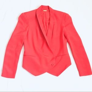 Rebecca Minkoff Becky Blazer Jacket Coral Orange